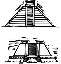 Mayan Pyramids vector image vector image