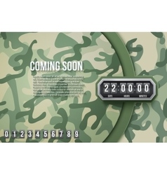 Military background coming soon and countdown vector