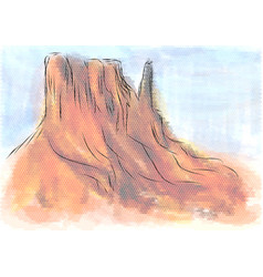 monument valley arizona vector image
