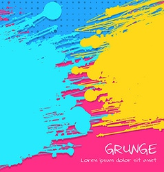 Multicolor Grunge Background vector image vector image