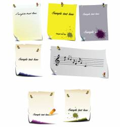 Note pages vector