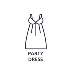 party dress line icon outline sign linear symbol vector image vector image