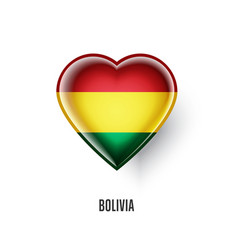 Patriotic heart symbol with bolivia flag vector