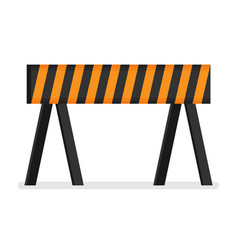 Prohibitory road sign icon in flat style isolated vector