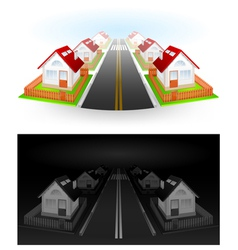 Residential houses vector