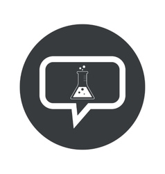 Round dialog conical flask icon vector