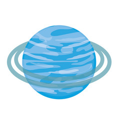 saturn planet icon vector image vector image
