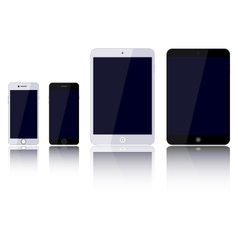Set devices phone tablet computer vector image