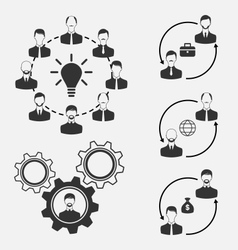 set of business people concept of effective vector image vector image