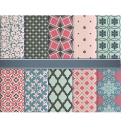 Set of classic geometric patterns vector image vector image