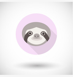 sloth icon vector image
