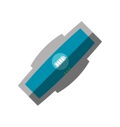 Smart bracelet wearable electronic shadow vector