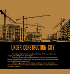 under construction city concept vector image vector image