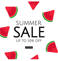 Watermelon sale poster vector