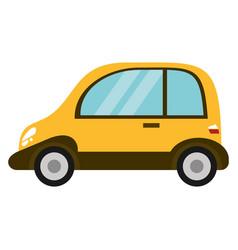 Yellow eco car transport image vector