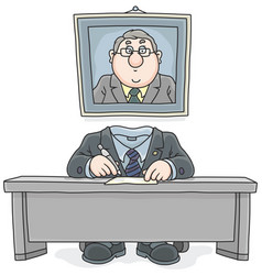 bureaucrat vector image