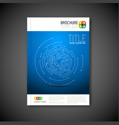 Modern abstract brochure template vector