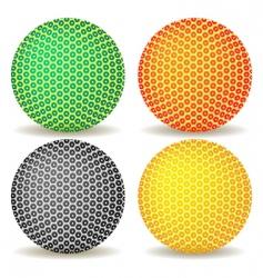 abstract ball icon vector image