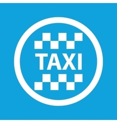 Taxi sign icon vector
