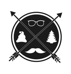 Christmas hipster style vector