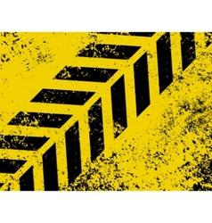 Grungy hazard strip vector
