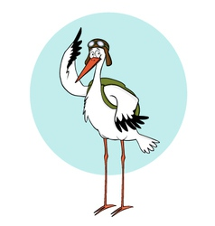 Cartoon stork vector