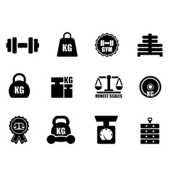 Scales and weighing icon set vector