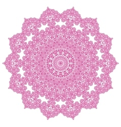 Pink circle ornament isolated vector