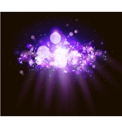 Abstract magenta bokeh and light background vector image