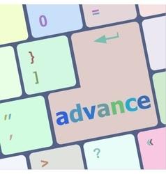 Advance on computer keyboard key enter button vector