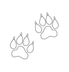 animal tracks sign black dotted icon on vector image vector image