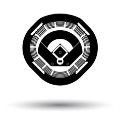 Baseball stadium icon vector