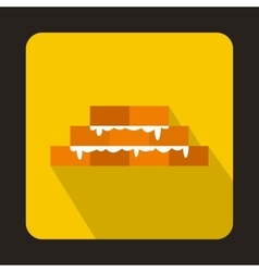 Brick wall icon in flat style vector image