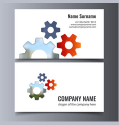 Business card template creative corporate vector