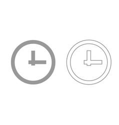 clock grey set icon vector image