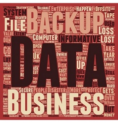 Consequences of data loss and Why should Offsite vector image vector image