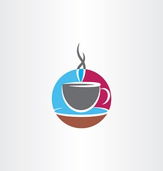 cup of coffee icon colorful logo vector image vector image