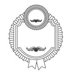 Figure emblem with symbols inside icon vector