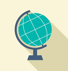 Flat design desktop globe vector