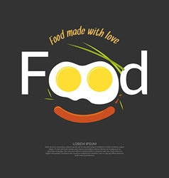 Food for design website infographic poster ad vector image vector image