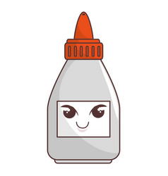 Glue bottle comic character vector