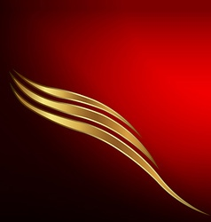 Gold waves card vector image