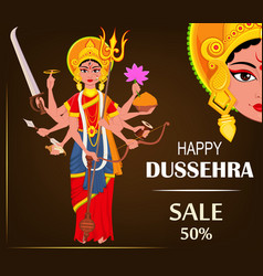 Happy dussehra for sale vector