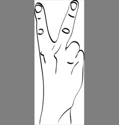isolated silhouette of the hand that vector image vector image