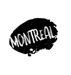 Montreal rubber stamp vector