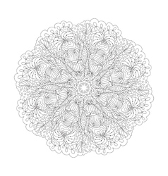 Outline mandala for coloring book decorative vector
