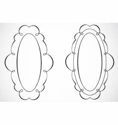 oval frames vector image vector image