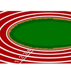 Racetrack cartoon scene background vector