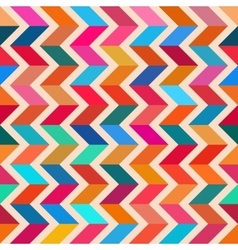 Seamless colorful zigzag line bright vector