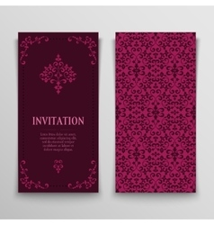 set of greeting cards vector image vector image